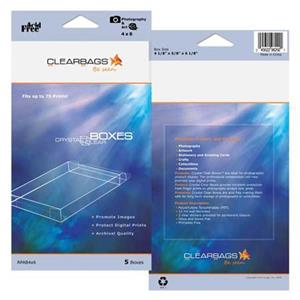 "ClearBags Crystal Clear 4x6"" Polyethylene Photo Box RPAB4X6"