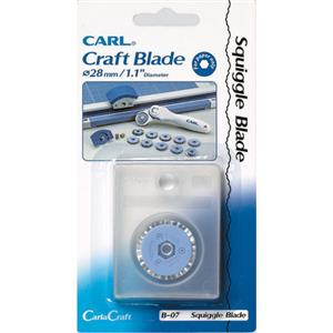Carl B-07 Squiggle Cut Rotary Blade: Picture 1 regular
