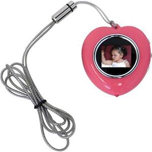CTA Digital Heart Shape Digital Photo Frame Necklace (Pink) MIHPNP
