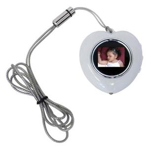 CTA Digital Heart Shape Digital Photo Frame Necklace (White) MIHPNW