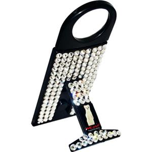 wEASEL Smartphone Stand with Retractable Hanger, Black Jeweled: Picture 1 regular