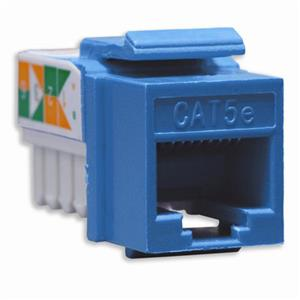 DataComm Electronics Cat 5e High Performance Jack, Blue: Picture 1 regular