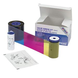 Datacard Color Ribbon & Cleaning Kit, YMCKT, 500 Prints per Roll: Picture 1 regular