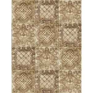Denny Manufacturing 10x10' Euromix Ivory Tile Freedom Cloth Backdrop CPM66251010
