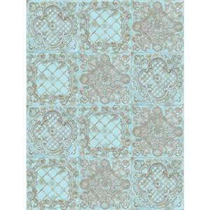 Denny Manufacturing 5x7' Euromix Pale Blue Tile Freedom Cloth Backdrop CPM665657
