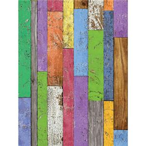 Denny Manufacturing 8'x8' Prismatic Planks Freedom Cloth Backdrop: Picture 1 regular