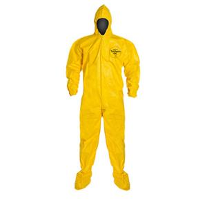 DuPont Tychem Polycoat Coverall with Hood & Boots, 12 /Case, Medium: Picture 1 regular