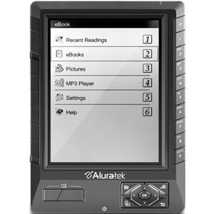 Aluratek 5in Libre eBook Reader Pro, 2GB SD Card, Black: Picture 1 regular
