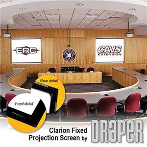 Draper Clarion HDTV Format Fixed Frame Wall Projection Screen 252137
