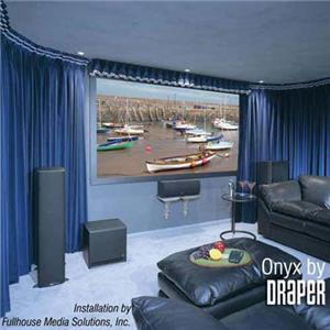Draper Onyx 4:3 Format Fixed Frame Wall Projection Screen 253285