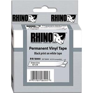 "Dymo 18444 1/2""x18' White Vinyl Rhino Labels 18444"