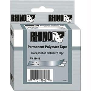 "Dymo 18486 1/2""x18' Metalized Permanent Polyester Labels 18486"