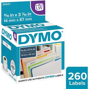 Dymo 30327 9/16x3-7/16in Self-Stick File Tab Labels: Picture 1 regular