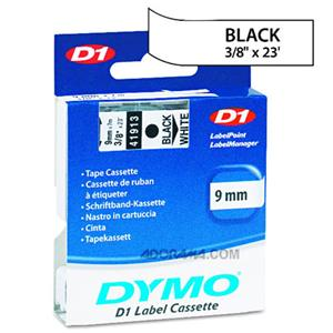 Dymo 40913 9mm Standard D1 Black/White Labels: Picture 1 regular