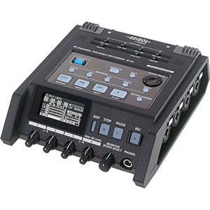 Roland R-44 Solid State 4 Channel Portable Field Recorder R-44-R