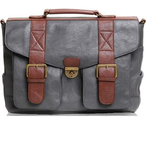 Epiphanie Austin Satchel Bag, Gray/Brown: Picture 1 regular