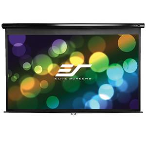 Elite Screens Manual Pull Down Wall and Ceiling Projection Screen M135UWH2