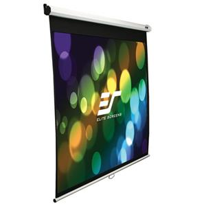Elite Screens Manual Pull Down Wall and Ceiling Projection Screen M135UWV2