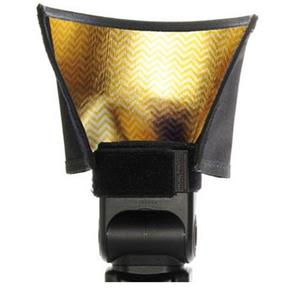 Honlphoto Gold-Silver Reflector / Speed Snoot for Flashes: Picture 1 regular
