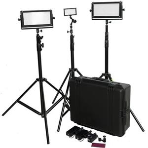 FloLight LED Video Lighting Kit KIT-LED2X5V-1X1P-HAR