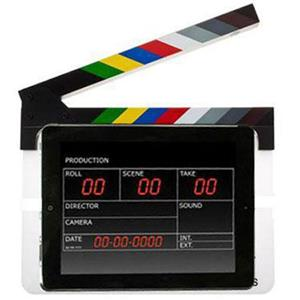 Flashpoint Acrylic Dry Erase Sync Slate with Color Clappers: Picture 1 regular