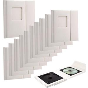 Flashpoint Overlapping CD Holder, Holds 2 CDs, Window, Color:White. (Case Of 10): Picture 1 regular