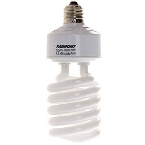 Flashpoint Replacement Spiral Fluorescent Bulb 55 Watts 5500k HOUSEHOLD E26 E27: Picture 1 regular
