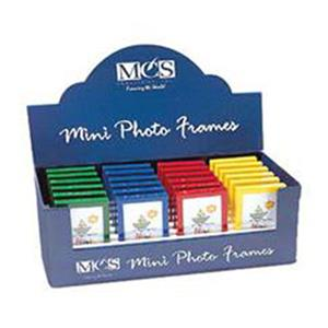 MCS Random Colored Multipurpose Mini Plastic Picture Frame 40654