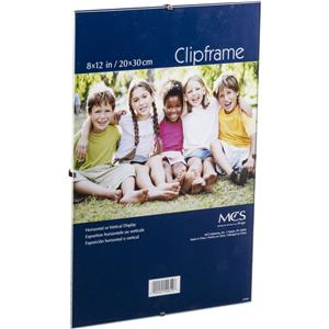 MCS Glass Clip Picture Frame for 8in x 12in Photograph: Picture 1 regular