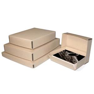 "Print File Tan Drop-Front Metal Edge Archival Box 13.5x19.5x3"" 2600273"