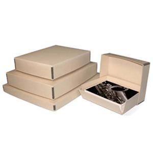 "Print File Tan Drop-Front Metal Edge Archival Box 16.5x20.5x1.5"" 2600261"