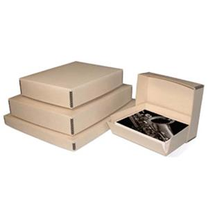 "Print File Tan Drop-Front Metal Edge Archival Box 9x11-1/2x3"" 2600223"