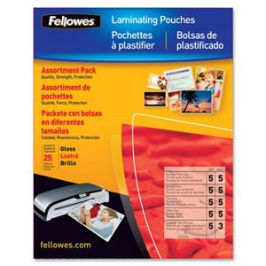 Fellowes Laminating Pouch Starter Kit 52018