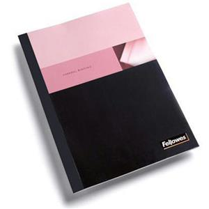 "Fellowes 1"" Black Linen Thermal Binding Covers 5257001"