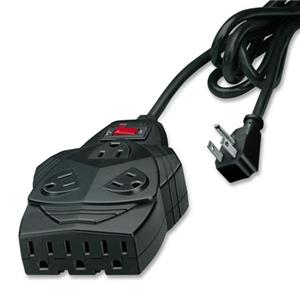Fellowes Mighty 8 Surge Protector, Black: Picture 1 regular