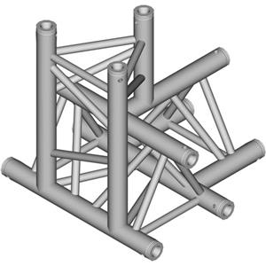 Global Truss 1.64' (0.5m) 4 Way Triangular T-Junction TR-4097-D