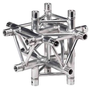 Global Truss 1.64' (0.5m) 4 Way Triangular Vertical Cross Junction Apex TR-4098