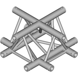 Global Truss TR-4100-U/D 1.64' (0.5m) 4 Way Triangular Cross Junction Apex Down TR-4100-U/D