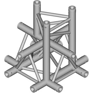 Global Truss 1.64' (0.5m) 5 Way Triangular Cross Junction Apex Down TR-4101-D