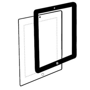 Hammerhead Bubble-Free Screen Protector for iPad 2/3, Black: Picture 1 regular