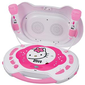 Hello Kitty KT2003B CD Karaoke System and CD Player KT2003B