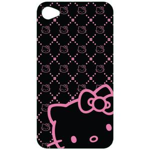 Hello Kitty KT4488BK4 Wrap for Apple iPhone 4, Black: Picture 1 regular