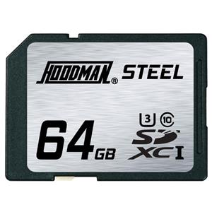 Hoodman Class 10 64GB RAW Steel SDXC UHS-1 Memory Card RAWSDXC64GBU1