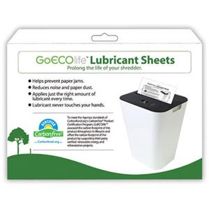 GoECOlife GLS12i Shredder Lubricant Sheets GLS12I