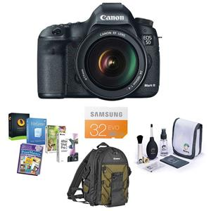 Canon EOS-5D Mark III Digital SLR Camera/Lens Kit 5260B009 A