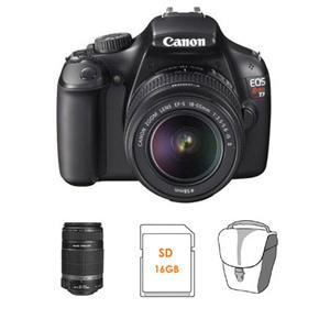 Canon EOS Rebel T3 Digital SLR Camera W/2 Lens Kit 5157B002 L1