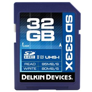Delkin 32GB Elite 633 Class 10, SDHC UHS-I 633x Memory Card: Picture 1 regular