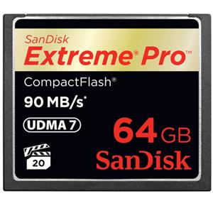 SanDisk 64GB Extreme Pro CF90 Compact Flash Memory Card: Picture 1 regular