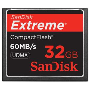 SanDisk SDCFX032GA61 32GB Extreme 60mb/sec CompactFlash: Picture 1 regular