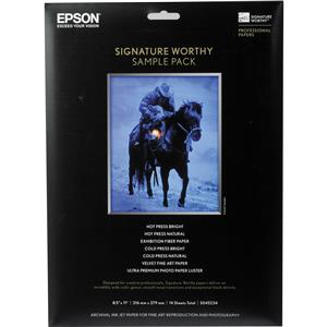 Epson 8.5 x 11 Sample Pack of Signaure Papers S045234: Picture 1 regular